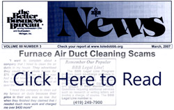 BBB Article - Duct Cleaning Scams